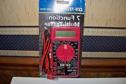 7 Function Multimeter Multi-Tester Auto Electrical Amps Volt