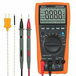 Proster Auto-Ranging Digital Multimeter 6000 Counts And 2000