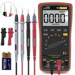 Digital Multimeter Auto Ranging AC/DC Voltage Clips Test Lea