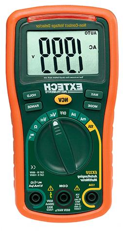 Extech EX320: 8 Function Mini MultiMeter + Non-Contact Volta