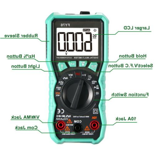 Digital AC DC Ammeter Ohmmeter