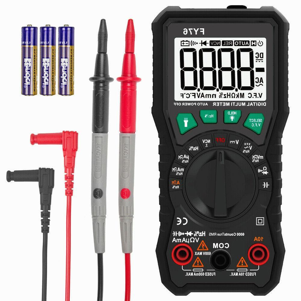 Digital Multimeter Auto Range AC DC Voltmeter Amp Ohm Volt T