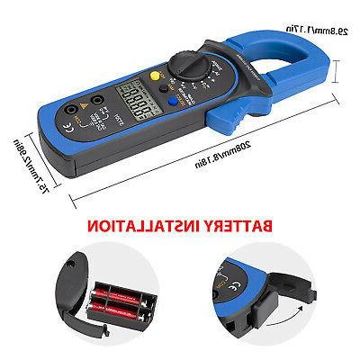 Digital Multimeter Tester DC Volt Clamp Range LCD
