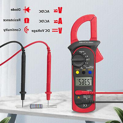 Digital Multimeter Tester AC DC Volt Amp Clamp Meter LCD