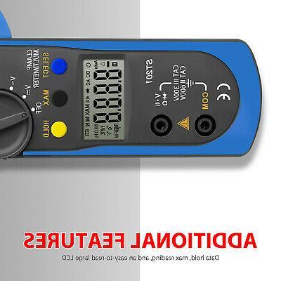 Digital Multimeter DC Volt Amp Clamp Auto Range LCD