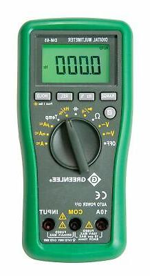 GREENLEE DM-65 10 Functions Multimeter, 1000V/CAT III