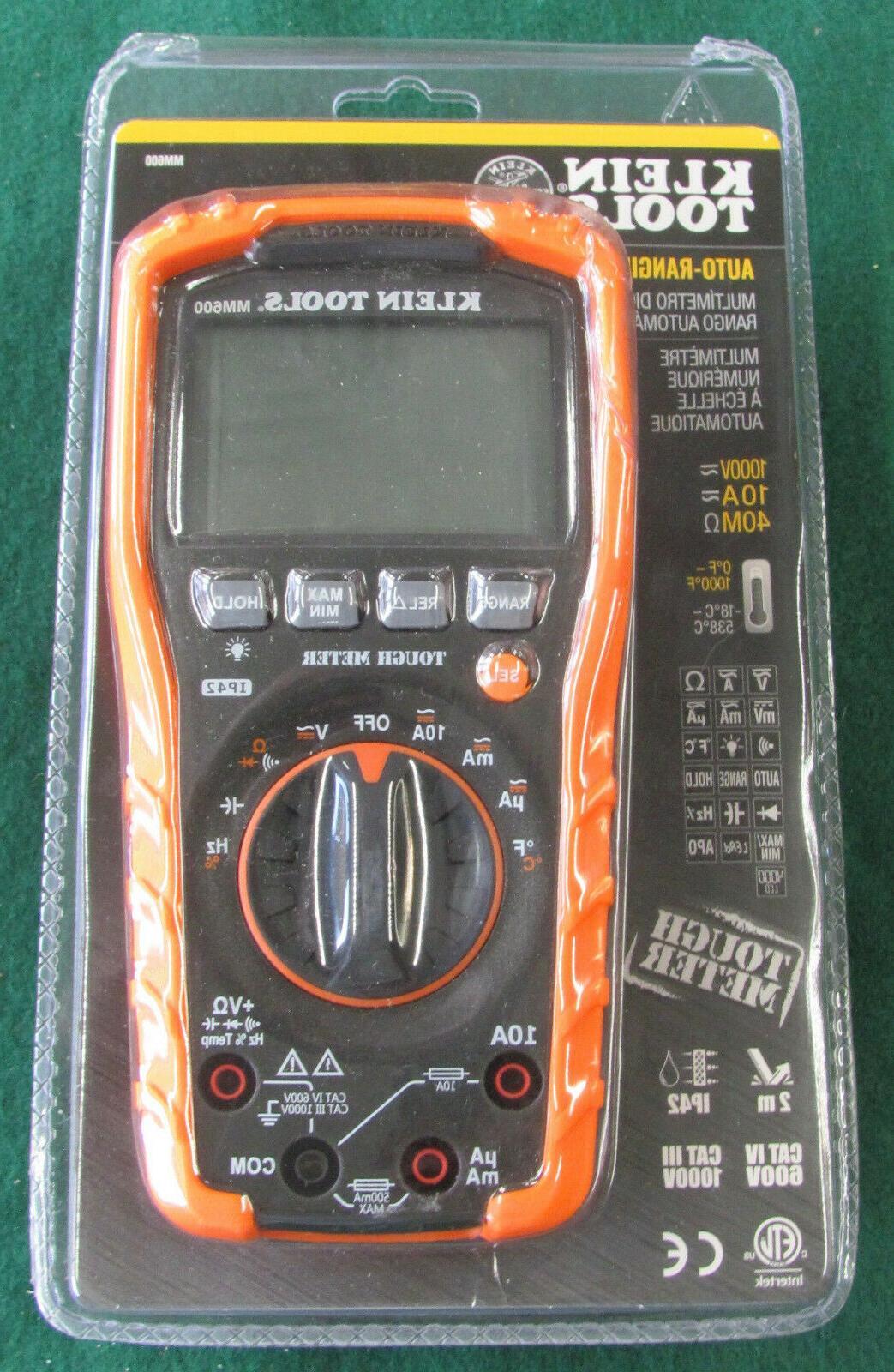 klein tool mm600 digital multimeter auto ranging