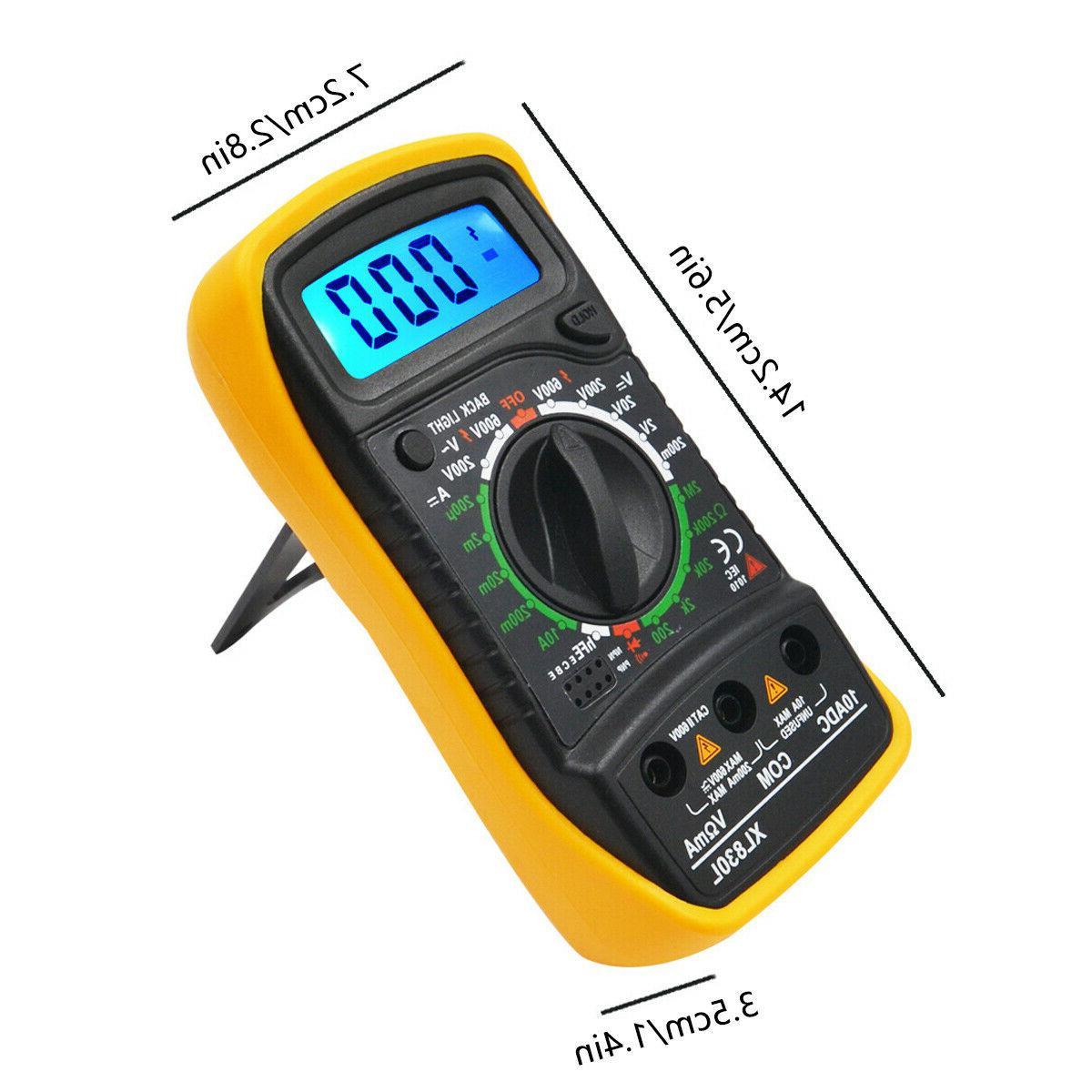 LCD Digital Multimeter Tester DC Leads